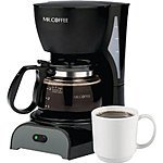Mr. Coffee 4-Cup Programmable Coffeemaker  $15 + Free Store Pickup