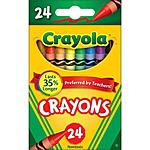24-Pack of Crayola Crayons 50¢ with store pickup at Walmart