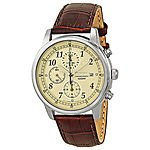 Seiko Stainless Steel Chronograph Men's Watch Cream Dial (SNDC31) or Black Dial (SNDC33) $99.99 + Free Shipping