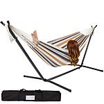 Double Hammock With Space Saving Steel Stand Includes Portable Carrying Case $75 + Free Shipping