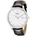Tissot Men's Silver Dial Tradition Watch $200.92+ free shipping@ amazon