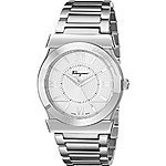 Salvatore Ferragamo Men's FI0990014 Vega Analog Display Swiss Quartz Silver Watch $621.6@ amazon
