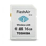 $19.95 ($59.95, 67% off) Toshiba FlashAir II Wireless 16 GB Class 10 SD Memory Card, PFW016U-1BCW