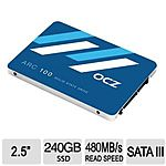 "240 GB OCZ ARC 100 2.5"" MLC Internal SSD for $69.99 AR, 128 GB HP X755W USB 3.0 Flash Drive for $27.99 + S&H @ TigerDirect.com"