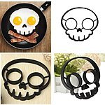 Ozera 2-Pack Set of Silicone Egg Mold Rings (Purple Owl & Black Skull Shapes) for $5.24 AC + FSSS or FS w/ Prime @ Amazon.com