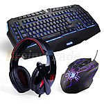 Sades Professional 3500DPI USB Gaming Mouse + Multimedia Keyboard + Game Headset $72.99 + Free Shipping