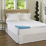 Beautyrest 4-inch Sculpted Gel Memory Foam Mattress Topper with Polysilk Cover (Queen) $150 + Free Shipping!