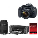 Canon EOS Rebel T5 DSLR with 18-55mm & 75-300mm Lenses + PIXMA PRO-10 Inkjet Printer & Semi-Gloss Photo Paper $449.00 AR + Free Shipping!