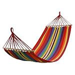 "75x31"" Canvas Fabric Double Spreader Bar Hammock for $14.99"