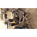 Realspace® EC620 Executive High-Back Chair (Brown and Silver, or Black and Silver) - $150 @OfficeDepot