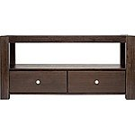 "Pinnacle Design - Solid Wood TV Console for Flat-Panel TVs Up to 55"" or 100 lbs $44.99"