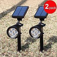 Amazon Deal: 200 Lumen Solar LED Pathway Spot Lights (2 Pack) - $32.99 AC + FSSS @ Amazon.com