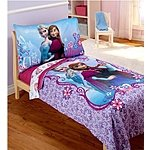 Disney Frozen Elsa & Anna 4pc Toddler Bedding Set only $36.97 at Walmart. com