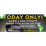 2500 Perk points for creating Visa Checkout account