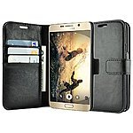 caseen 'Ottimo' Synthetic Leather Wallet Case + Tempered Glass for Note 5 / iPhone 6 / iPhone 6 Plus $7.98 w/ Free Shipping @ Amazon.com