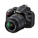 Nikon D3200 Digital SLR Camera Black Kit w/ 18-55mm AF-S VR DX Nikkor Zoom Lens $325 Shipped