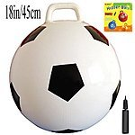Amazon Space Hopper Ball: Yellow with pump $7.30, Sports space hopper balls soccer, basketball $8.30 free ship with prime