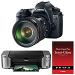 "Canon EOS 6D DSLR Camera w/ 24-105mm f/4L Lens + Pixma Pro-100 Printer w/ 50 Sheets of Canon 13x19"" Photo Paper $1649 AR + Free Shipping"