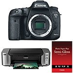 Canon EOS 7D Mark II DSLR Camera + PIXMA Pro-100 Printer Kit  $1249 After $350 Rebate + Free S/H