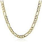 "Amazon - Men's 10k Yellow Gold 3.65mm Italian Figaro Chain Necklace, 24"" = $162.91 (9.1g weight)"