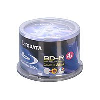Newegg Deal: 50-Pack RiDATA 25 GB 4X Inkjet Printable BD-R Media Spindle (BDR-254-RDIWN-CB50) for $14.99 AC (or less) + Free Shipping @ Newegg.com