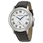 Raymond Weil Maestro Silver Dial Black Leather Men's Watch w/ Small Seconds $599 + free shipping