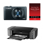 Canon S120 12.1MP 24mm f/1.8 Digital Camera + Pixma Pro-10 Printer Bundle  $400 After $350 MIR + Free S&H