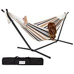 Double Hammock with Space-Saving Steel Stand + $7 rakuten cash $70 + free shipping